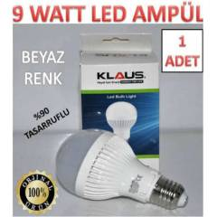 1 ADET 9 WATT KLAUS LED AMPÜL ULTRA LED IŞIK