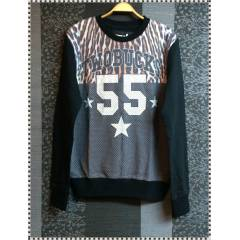 Sweat Shirt   TWOBUCKS 55 Leopar desen (Siyah)