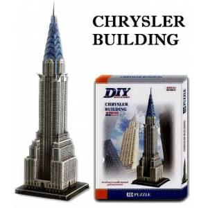 3d puzzle 3 boyutlu maket chrysler binas� crysle
