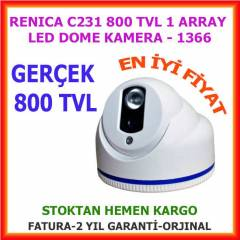 GERÇEK 800 TVL DOME KAMERA 3,6 MM 1 ARRAY LED