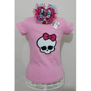 MONSTER HIGH DO�UM G�N� T-SHIRT VE TOKA TAKIMI