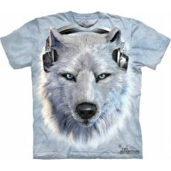 The Mountain 3D Tişört White Wolf Dj