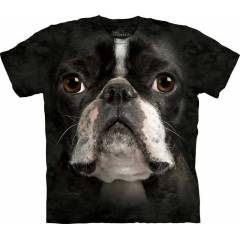The Mountain 3D Tişört Boston Terrier Face