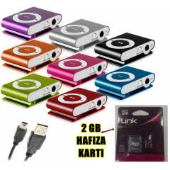 2 GB HAFIZA KART VE MİNİ MP3 ÇALAR MP3 PLAYER