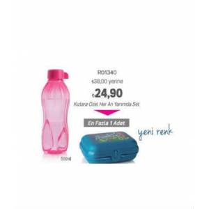 TUPPERWARE PEMBE 500 ML. ���E VE BESLENME SET�