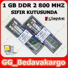 Sıfır Kingston 1 GB DDR2 RAM - 800 MHZ
