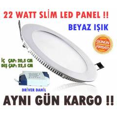 22 WATT SLİM LED SPOT DOWNLIGHT BEYAZ IŞIK