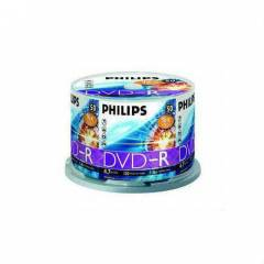 BOŞ DVD PHILILIPS DVD-R 4.7GB 16X 50Lİ CAKEBOX