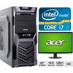 22 LED+ İ7+8 GB RAM+2 GB 128 BİT E/K+1 TB HDD