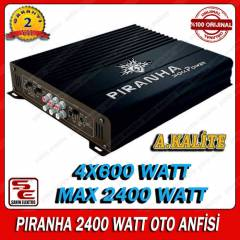 PİRANHA ShockPower S Type 2400 WATT OTO ANFİ
