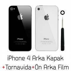 Apple iPhone 4 Arka Kapak + Tornavida + Jelatin