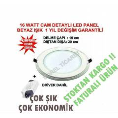 LED PANEL 16 WATT -CAM DETAYLI -LED SPOT BEYAZ*
