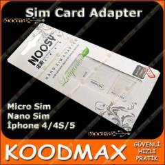 iPhone 5 Nano Sim Adaptörü - iPhone 5 Sim Kart