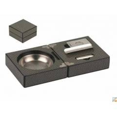 CarbonFiber  Cigar set Puro k�ll�k+kesici+punch