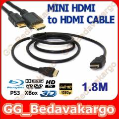 1.8m Mini Hdmi to Hdmi Kablo - Mini Hdmi Hdmi