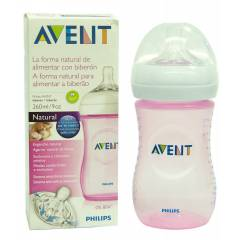 Avent PP Natural Biberon 260 ml Pembe