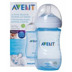 Avent PP Natural Biberon 260 ml Mavi