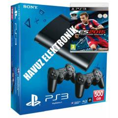 Sony PS3 500 GB 3D Super Slim + 2.Kol + PES 2015