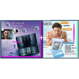 Oriflame S8 N�GHT edt Bay parf�m�+NORTH FORMEN