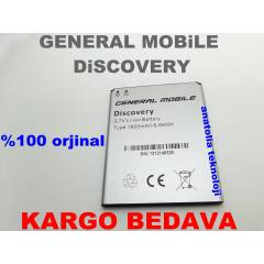 General Mobile Discovery Batarya Pil %100 Orj.