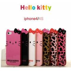 iPHONE 4/4S KILIF ARKA KAPAK HELLO KITTY LEOPAR