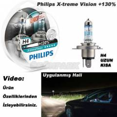 Philips H4 X-treme Vision Far Ampulü %130 Daha