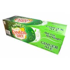CANADA DRY GINGER ALE 12 X 355 ML.