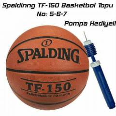 Spalding TF-150 Basketbol Topu No 5-6-7 + Pompa