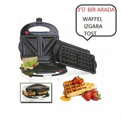 Essenso Waffle ve Tost Makinesi Combo Snack