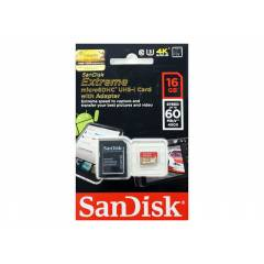 Sandisk Extreme 16Gb 60Mb/s Class10 MicroSDHC