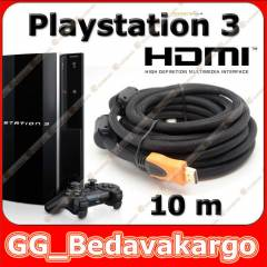 10 Metre Hdmi Kablo v1.4 Sony PS3 Playstation 3