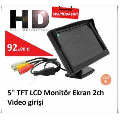 5'' TFT LCD Monitör Ekran 2ch Video girişi