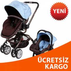 KRAFT TWIST PREMIUM TRAVEL BEBEK ARABASI MAVİ-KH