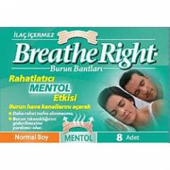 Breathe Right Mentollü Normal Boy Burun Bandı