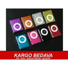 MP3 PLAYER MİNİ RENGARENK METAL KASA