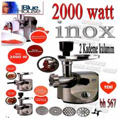 Blue house 567 inox 2000 WATT ET KIYMA MAKİNESİ