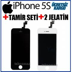 Apple iPhone 5S LCD Ekran + Dokunmatik +TamirSet