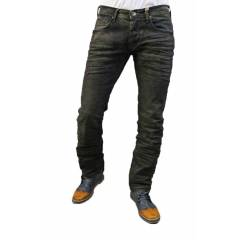republic full crashed dark brown jean pantolon