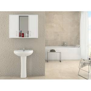 LuxxeHome Kristal Lavabo �st� Aynal� Banyo Dolap