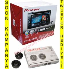 PİONEER  AVH-X2600BT Cd,Bluetooth,Mixtrax,İpod/