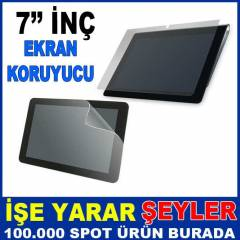7'' İNÇ TABLET PC EKRAN KORUYUCU JELATİN FİLM