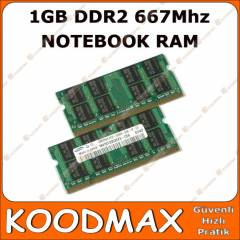 1GB DDR2 667 MHZ PC2 5300 NOTEBOOK RAM