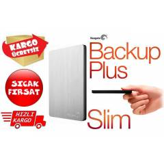 Seagate Backup Plus Slim 1TB Gümüş STDR1000201