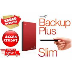 Seagate Backup Plus Slim 1TB KIRMIZI STDR1000203