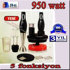 Blue house 5552 950Watt  5 fonksiyon Blender set