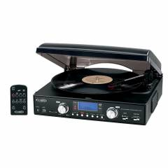 Jensen JTA-460 3-Speed Stereo Turntable with MP3