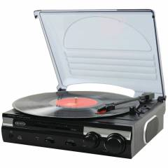 Jensen JTA-230 3 Speed Stereo Turntable with Bui