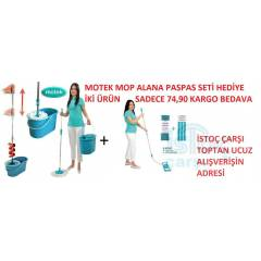MOTEK MAGİC PRATİK MOP SETİ+ İKİLİ PASPAS SETİ