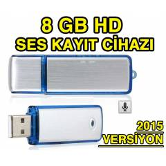 HD USB FLASH DİSK SES KAYIT CİHAZI - 8 GB