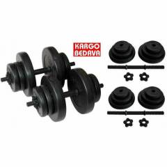 Delta 22 Kg Vinyl Dambıl Bar Set Dumbell